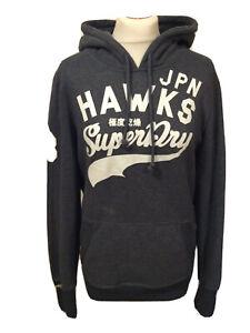 """Ladies Superdry Champions Sport Hoodie """"Hawks"""" U.K. Large Grey T1495"""