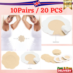 20pcs Breast Nipple Covers Sticker Nude Adhesive Bra Pad Patch Disposable UK