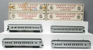 Williams O Gauge Assorted Passenger Cars [4]/Box