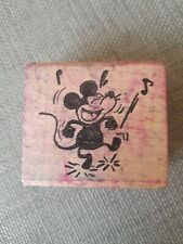 Vintage Mickey Mouse Gallopin Gaucho Wood Rubber Stamp Hero Arts Crafts 1982