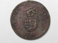 "Store Card Token: 1811 BB & Copper Co. ""One Penny... Bristol Swansen & London""."