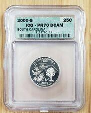 2000-S 25c South Carolina Clad Proof Quarter ICG PR70 DCAM