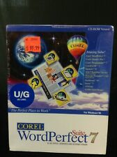 Vintage Software Corel Word Perfect 7 suite Office Win 95 & Win 98 CD-ROM Sealed