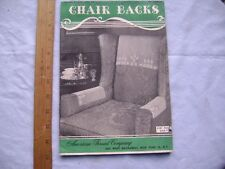 Chair Backs.  1950's Crochet Pattern Book from American Thread Company.