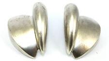 BIG Vtg Modernist BAYANIHAN Sterling Silver SCANDINAVIAN Style Earrings PIERCED