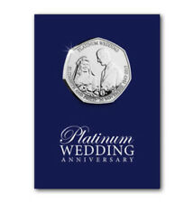 Royal Wedding Platinum Anniversary 50p coin. In display card. 2017 UNCIRCULATED
