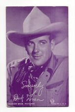 Dick Foran 1940's Salutations Cowboy Purple Exhibit Arcade Card
