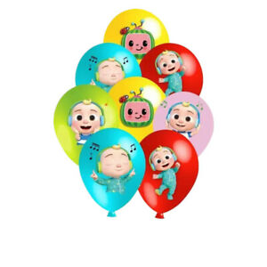 COCOMELON  Multi Colour Latex & Foil Printed Balloons Birthday Party,