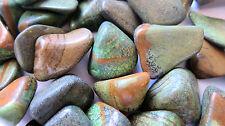 *THREE* Fancy Jasper Tumbled Stone 25mm QTY3 Healing Crystal Shaman Protection