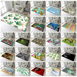 Cactus Pineapple Frog Anchor Route 66 Floor Mat Bedroom Living Room Area Rugs