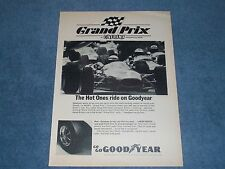 "1967 Goodyear Tires Vintage Ad ""The Hot Ones Ride on Goodyear"" Grand Prix Movie"