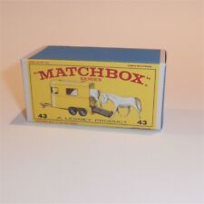 Matchbox Lesney 43 c Pony Trailer empty Repro E style Box