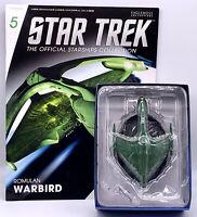 EAGLEMOSS STAR TREK Starships - ROMULAN WARBIRD W/MAG  ISSUE 5
