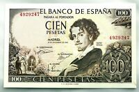 Spain-Billete. Gustabo Adolfo Becquer. 100 Pesetas. 1965. SIN SERIE. SC-/UNC-