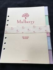 Organiser/Filofax MULBERRY PLANNER PVC 5 COLOURED INDEX SECTION 210x165 mm-NEW