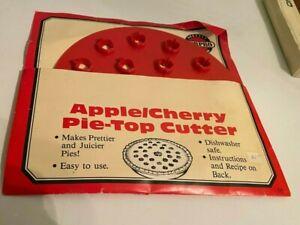 Norpro Apple Cherry Pie Top Crust Cutter ~ Croûte Décor Cuisine Cuisson Vacances