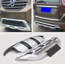 Car Front & Rear Bumper Protector PU Cover Trim 2P For VOLVO XC60 2014 2015 2016