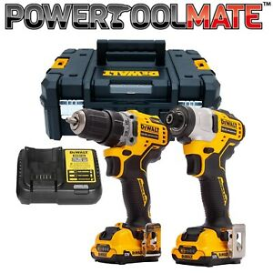 DeWalt DCK2110L2T 12V Brushless Drill Driver and Impact Driver With 2 x 3.0Ah