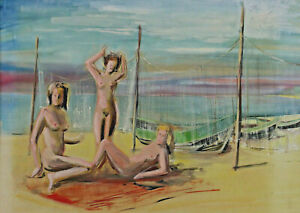Signed Back May Refer To Carl Heins Cunitz -naked - Naked Women at the Beach