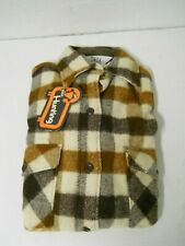 Vintage Woolrich Ladies Wool Flannel Shirts Sz 12 Long Sleeve Brown Check Plaid
