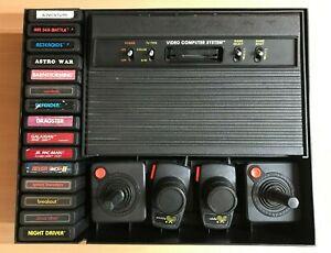 ATARI 2600 VADER (AV-MODDED) + HARD BASE + CONTROLLERS + 15 AWESOME GAMES