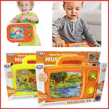 Kids Musical TV Wind Up Moving Screen Soothing Nap Time Fun Toy Baby Toddler Set