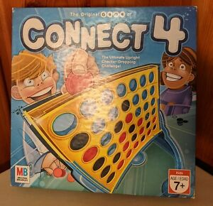2006 MILTON BRADLEY CONNECT 4 GAME AGES 7 & UP UPRIGHT CHECKER DROPPING GAME