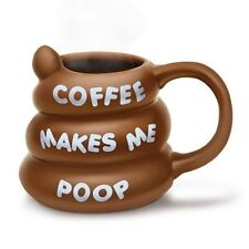 Bigmouth Coffee Makes Me Poop Mug Tea Drink Cup Poo Novelty Ceramic 3d