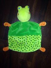 Baby Club C&A Schmusetuch Schnuffel Kuscheltuch Frosch Frog Grün Punkte Orange