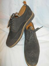 Excellent Tommy Bahama Men's Brown Suede Medallion Toe Brogue Wing Tips Sz 9.5M