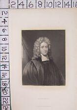 c1850 ANTIQUE PRINT ~ REVEREND JOHN HOWE