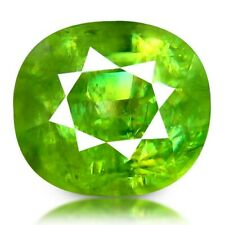 4.01 CTS 9x8 MM Excellent Fire Sparkling Preety Green Sphene Loose Gemstone