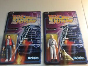 Set Of 2 1985 Marty McFly And Doc Brown Characters Back To The Future Figurines