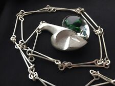 BNWT Lapponia Space Apple Sterling Silver & Acrylic Necklace Pendant Pine Green
