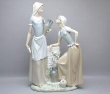 Große Lladro Nao Figur Frauen am Wasserbrunne H-40 cm.