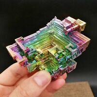 *Quartz Crystal Rainbow Titanium Bismuth Mineral Cluster Specimen Healing-Stone.