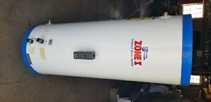 """Utica indirect water heater. Model ST-001.03 (40gal) 52"""" tall 19 1/2""""wide."""