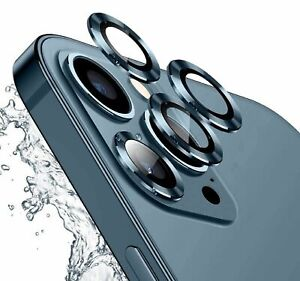 For iPhone 12 Pro Max 11 Metal Ring Tempered Glass Camera Lens Screen Protector