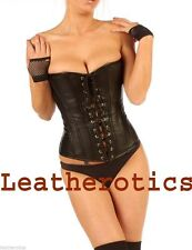 Leather Lace Up Everyday Boned Basques & Corsets for Women