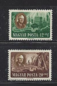 HUNGARY - B198B-B198C - MH - 1947 - F D ROOSEVELT & FREEDOM OF RELIGION AND WANT