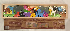 Animal Parade A to Z Wood Puzzle EUC