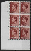 SG459.  KEVIII 1&1/2d. In A37 Cyl.20(no dot) Perf Type 5 Block Of 6.   Ref:04139