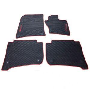 Black&Black Line Rubber Floor Non-Slip Mats Feet Rugs For VW Touareg 2010-2019