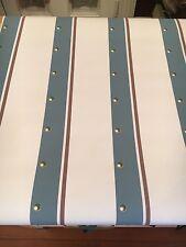 Vintage Wallpaper Blue & Plum Stripes &  Circles  by Motif