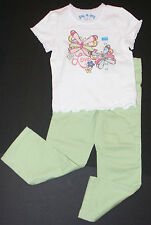 Childrens Place NEW Green Skinny Pants Tee Top 2 Piece Outfit Girls XS 4 4T