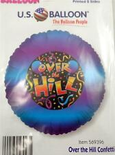 """NEW 18"""" OVER THE HILL Mylar Foil Balloon Birthday Party Purple"""