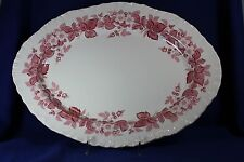 """Wedgewood - BRAMBLE Pink with Shell Edge - 16 1/2"""" Serving Platter"""