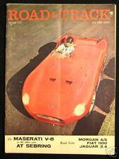ROAD & TRACK Magazine June 1957 Morgan 4/4 Series II