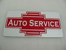 AUTO SERVICE Vintage Style Metal Art Deco Sign Home Car Shop Garage Gas Station