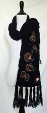 Desigual Black & Plaid Chunky Knit Scarf. NWT Retail $59 Price $28